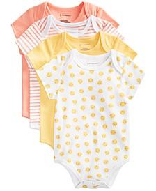 Baby Girls & Boys Sunshine Cotton Bodysuits, Created for Macy's