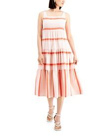 Petite Tiered Midi Dress
