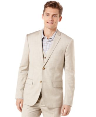 Big and Tall Linen Blend Textured Blazer