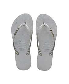 Women's Slim Glitter Flip Flop Sandals