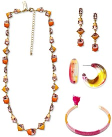 INC Gold-Tone Colorblock Jewelry Collection, Created for Macy's