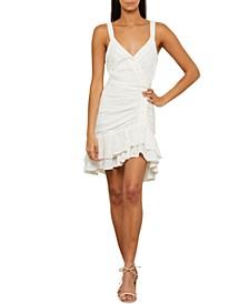 Eyelet Ruffled Mini Dress