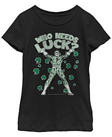 Big Girls Batman Lucky Riddle Short Sleeve T-shirt