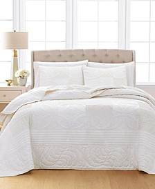 Wedding Rings 100% Cotton Queen Bedspread, Created for Macy's