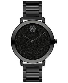 Women's Swiss Bold Evolution Black Ion-Plated Steel Bracelet Watch 34mm