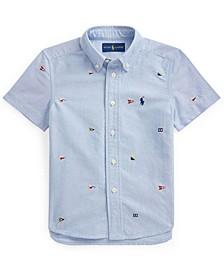Toddler Boys Nautical Flag Oxford Shirt