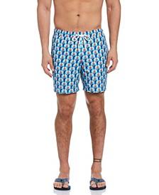 Geometric Print Men's Swim Short