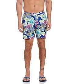 Tropical Print Men's Swim Short