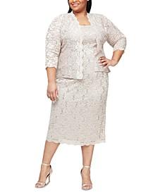 Plus Size 2-Pc. Lace Jacket & Sheath Dress Set