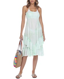 Ruffled Strapless Cover-Up Dress