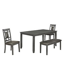 CLOSEOUT! Lake Norman 4-Pc Dining (Table + 2 Side Chairs, & Bench)