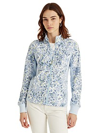 Floral French Terry Full-Zip Jacket