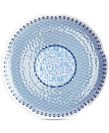 "Q Squared Heritage Melamine 14"" Round Hammered Platter"
