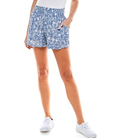 Juniors' Smocked-Waist Shorts