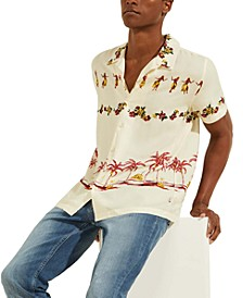 Men's Vintage-Inspired Hula Shirt
