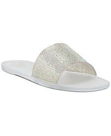 Women's Jacquell Rhinestone Jelly Slide Sandals