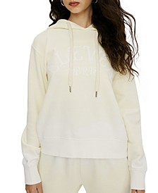 Cotton Ombré Hooded Logo Sweater