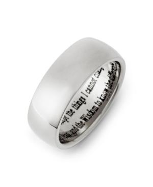 Men's Stainless Steel Serenity Prayer Ring
