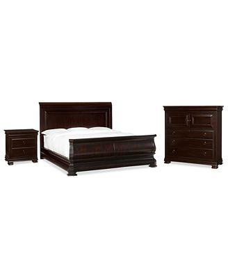 heathridge 3 piece queen bedroom set, created for macy's, with