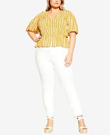 Plus Size Sun Stripe Shirt