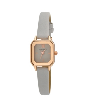 Women's Faceted Tank Gray Polyurethane Strap Watch 22mm