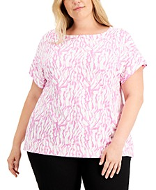 Plus Size Animal Print T-Shirt, Created for Macy's