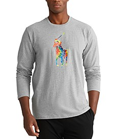 Men's Tie-Dye Big Pony Logo Lightweight Pajama Top