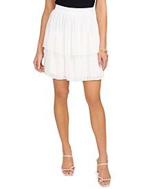 Tiered Pleated Mini Skirt
