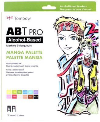 Tombow Abt Pro Alcohol-Based Art Markers, 12-Pack