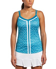 Grand Slam Tennis Women's Printed Sleeveless Tennis Top