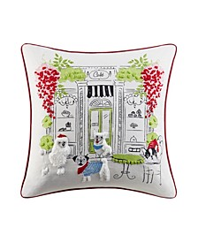 "Paris Cafe 20"" x 20"" Decorative Pillow"