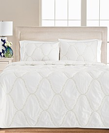 Floral Embroidered Geo King/Cal King Quilt, Created for Macy's