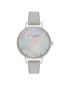Women's Timeless Classics Gray Leather Watch Strap 34mm