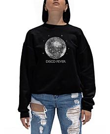 Women's Word Art Disco Ball Crewneck Sweatshirt