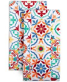 Worn Tiles Kitchen Towels, Set of 2