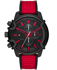 Griffed Chronograph Red Silicone Watch