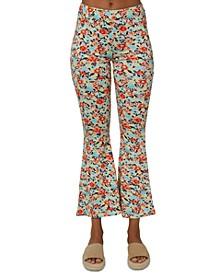 Dallen Printed Flare-Leg Pants