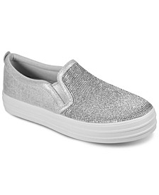 Women's Street Double Up - Shine Bright Platform Slip-On Casual Sneakers from Finish Line