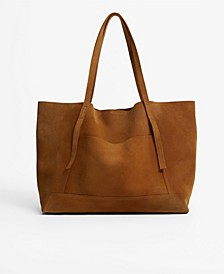 Women's Leather Shopper Bag