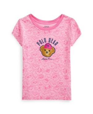 Polo Ralph Lauren Cottons LITTLE GIRLS POLO BEAR JERSEY TEE