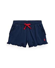 Big Girls Ruffled Jersey Shorts