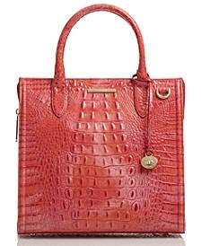 Caroline Melbourne Embossed Leather Satchel