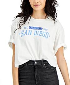 Juniors' Cotton San Diego Graphic-Print T-Shirt