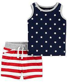 Baby Boys 4th of July Short and T-Shirt Set