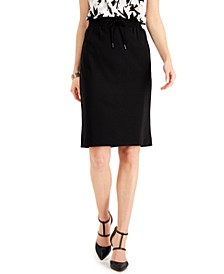 Petite Crepe Pull-On Skirt