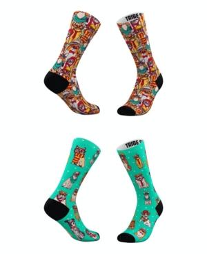 Tribe Socks Socks MEN'S AND WOMEN'S HIPSTER CAT SOCKS, SET OF 2