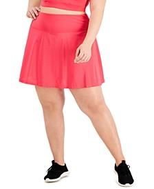 Plus Size Perforated Skort, Created for Macy's