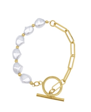 Chain Toggle Pearl Bracelet