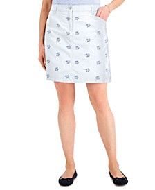 Petite Lace-Embroidered Skort, Created for Macy's
