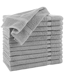 "Cotton 12-Pc. Solid 16"" x 30"" Hand Towel Set"